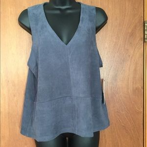 Bishop and Young Faux Suede Top/Vest